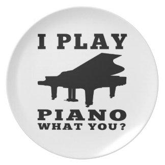 Juego el piano platos para fiestas