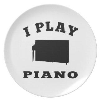 Juego el piano plato de cena