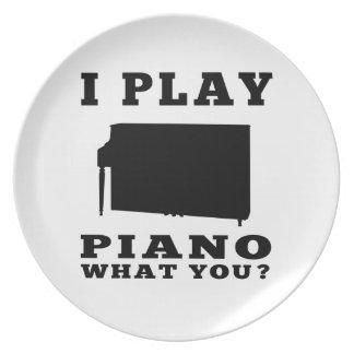 Juego el piano plato de comida