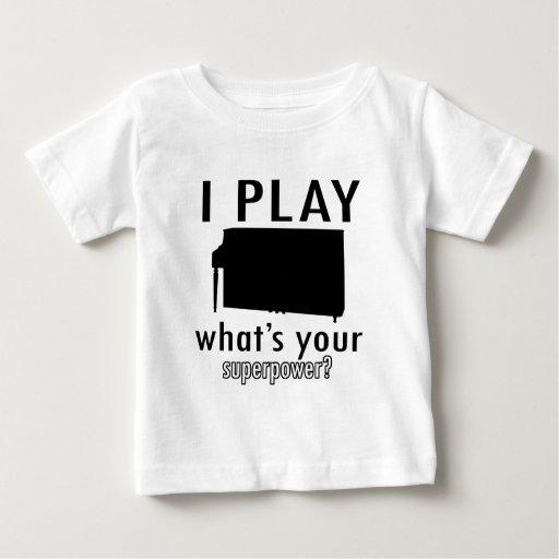 Juego el piano t shirt