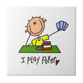 Juego el póker tejas  ceramicas