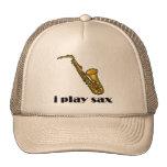 Juego el saxofón gorras de camionero