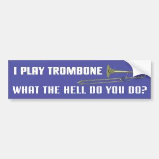 Juego el Trombone Pegatina Para Auto