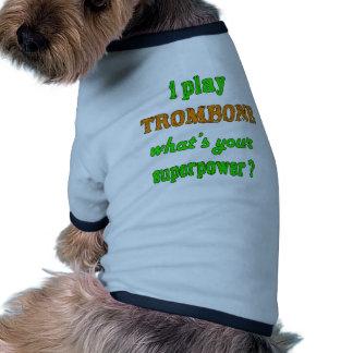 Juego el Trombone Camiseta Con Mangas Para Perro