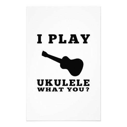 Juego el Ukulele Papelería De Diseño