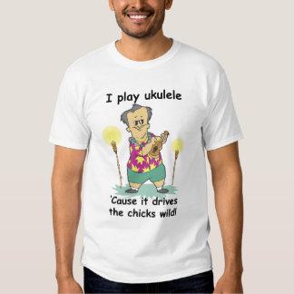 Juego el Ukulele porque conduce los polluelos Polera