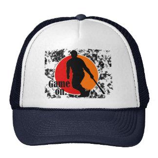 Juego en el gorra de béisbol