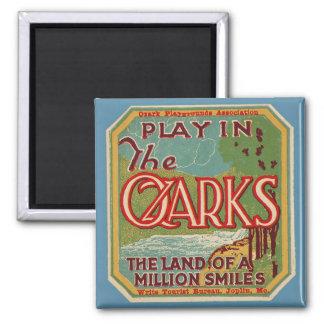 Juego en la tierra de OZARKS de millón de sonrisas Imán Cuadrado