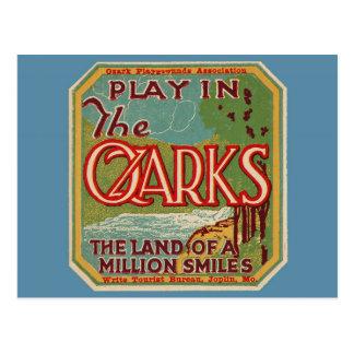 Juego en la tierra de OZARKS de millón de sonrisas Postal