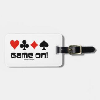 ¡Juego encendido! (Cuatro juegos de la tarjeta) Etiqueta De Maleta