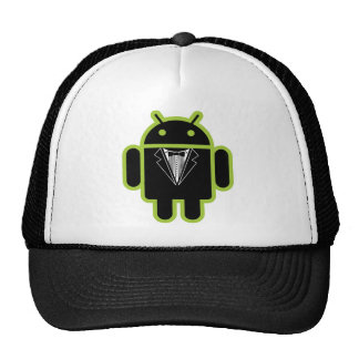 Juego encima del verde androide gorra