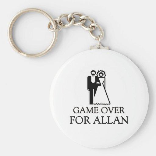 Juego encima para Allan Llavero Personalizado