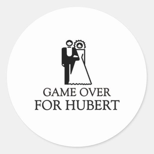 Juego encima para Huberto Etiqueta Redonda