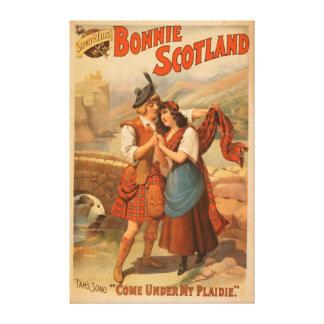 Juego escocés 2 de Bonnie Escocia de Sidney R. Ell Impresión En Lona Estirada