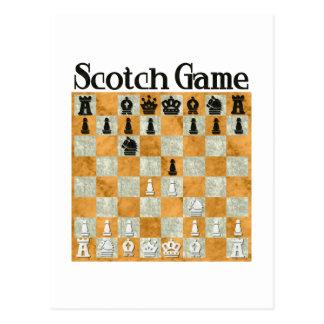 Juego escocés tarjetas postales