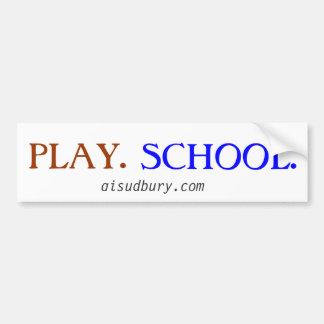 juego. escuela pegatina para auto