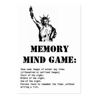 juego-Estatua de la mente de la memoria de la Tarjetas De Visita Grandes