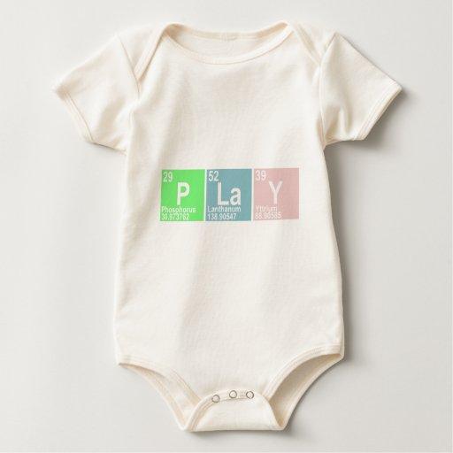 Juego (itrio del lantano del fósforo) body para bebé
