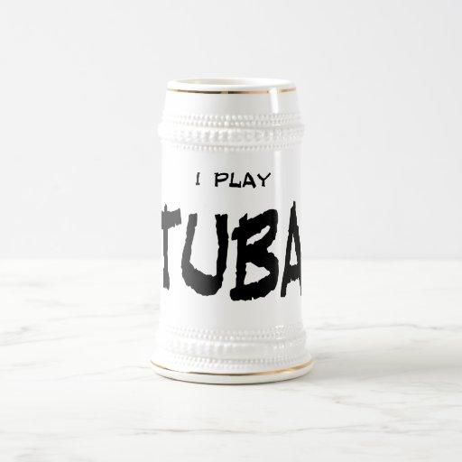 Juego la tuba jarra de cerveza