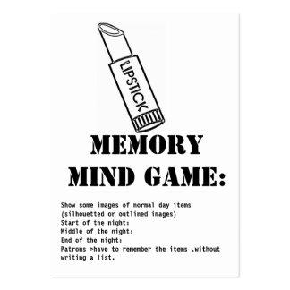 juego-lápiz labial de la mente de la memoria tarjetas de visita grandes