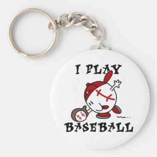 Juego las camisetas y los regalos del béisbol llavero redondo tipo chapa
