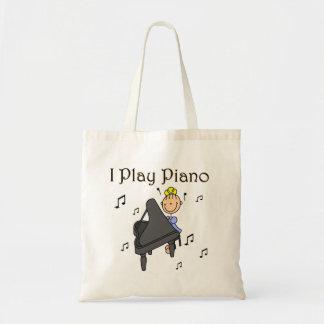 Juego las camisetas y los regalos del piano bolsa tela barata