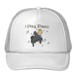 Juego las camisetas y los regalos del piano gorras de camionero