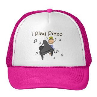 Juego las camisetas y los regalos del piano gorro de camionero