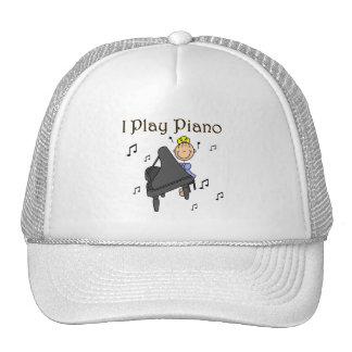 Juego las camisetas y los regalos del piano gorras