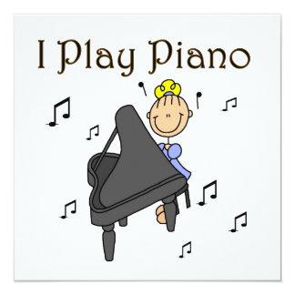 Juego las camisetas y los regalos del piano comunicado personalizado