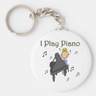 Juego las camisetas y los regalos del piano llavero personalizado