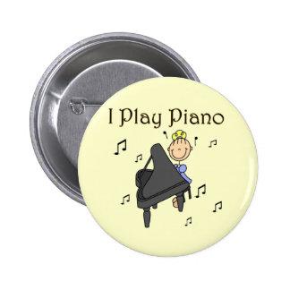 Juego las camisetas y los regalos del piano pin
