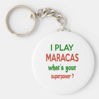¿Juego Maracas cuál es su superpotencia? Llavero Redondo Tipo Chapa