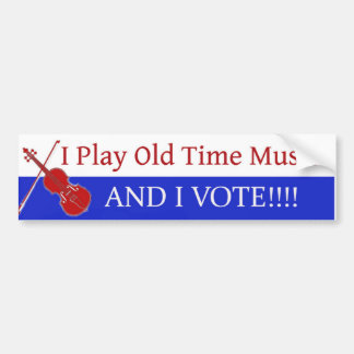 Juego música de antaño y voto pegatina para auto