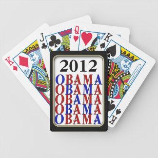 Juego negro de Bicycle® del marco de Obama 2012 Barajas De Cartas