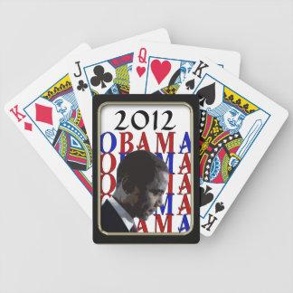 Juego negro de Bicycle® del marco de Obama 2012 Cartas De Juego