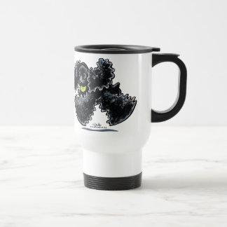 Juego negro de cocker spaniel tazas de café