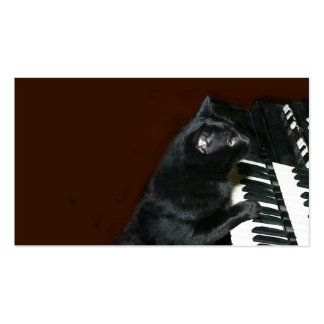 Juego negro del gato del gatito el órgano plantillas de tarjeta de negocio