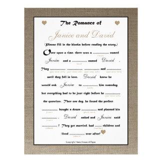 Juego nupcial de las liberaciones del boda de la d flyer personalizado