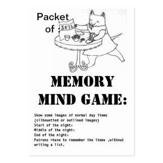 juego-paquete de la mente de la memoria de suelo tarjetas de visita grandes