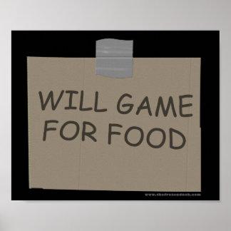 Juego para la comida póster