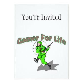 """Juego para la vida FPS Invitación 5"""" X 7"""""""