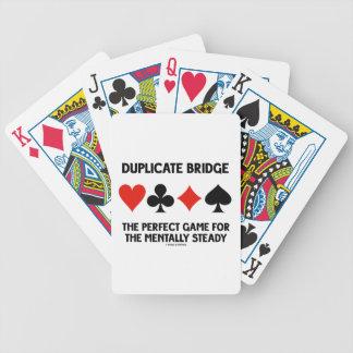 Juego perfecto del puente duplicado para barajas de cartas