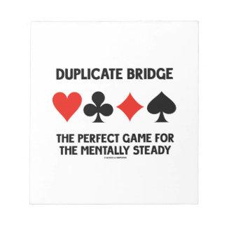 Juego perfecto del puente duplicado para libreta para notas