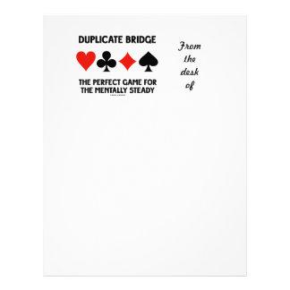 Juego perfecto del puente duplicado para membretes personalizados