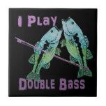 Juego pescados del bajo doble azulejos