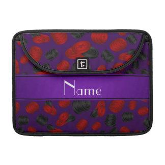 Juego púrpura conocido personalizado de los funda para macbooks