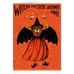 Juego retro del misterio de las brujas del vintage tarjetas