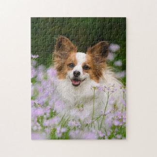 Juego romántico 11x14 del retrato del perro de puzzle