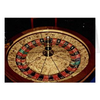 Juego, ruleta tarjeta de felicitación